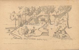 1922 Balatonaliga, Hatvani Turul cserkész tábor s: Piczek Zoltán