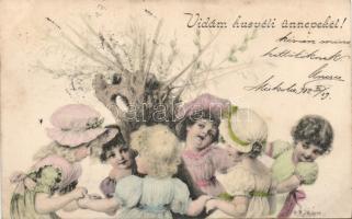 Easter, girls, dance s: Raimund Ritter von Wichera, Húsvét, kislányok, körtánc s: Raimund Ritter von Wichera