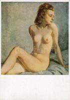 'Sitzende Blondine' / 'Sitting blonde' s: Wilhelm Hempfing