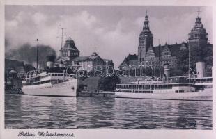 Szczecin, Stettin; Hakenterrasse / port, steamships