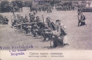1903 Belgrade, Serbian military group, infantry