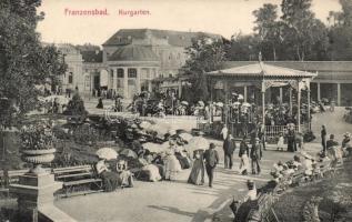 Frantiskovy Lazne, Franzensbad; Kurgarten / spa garden