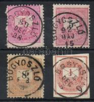 1881-1889 4 klf bélyeg BOGYOSZLÓ