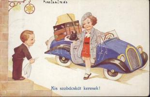 Children, automobile, humour s: John Wills, Gyerekek, autó, humor s: John Wills