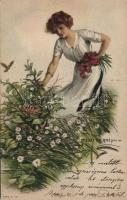 Surprise party / Flowers picking lady, The Knapp Co. s: Lester Ralph, Virágszedő hölgy, The Knapp Co. s: Lester Ralph