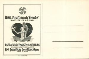 I. Geraer Briefmarken Ausstellung, 700 Jahrfeier der Stadt Gera / first stamp exhibition in Gera, 700th year anniversary s: H. A. Ketscher (non PC), Első bélyegkiállítás Geraban, a város 700. évfordulójára s: H. A. Ketscher (non PC)