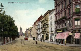 Wiesbaden, Rheinstrasse / stree, shops