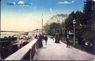 Szeged, Stefánia sétány, rakpart