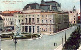 Bratislava, theatre, Pozsony, Városi színház,