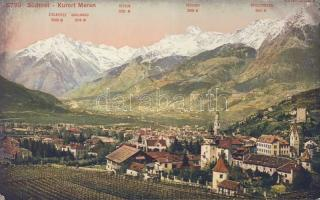 Merano, Meran; health resort with mountains