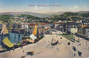 Trieste, Riva Carciotti, Via della Stazione / port, street, ships
