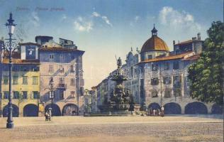 Trento, Piazza Grande / square, fountain