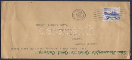 Jersey 1943 Mi 7 FDC