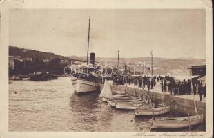 Abbazia docks arriving steamer (EK)