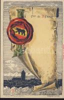 Bern, coat of arms, litho : Helene Hantz