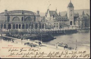 Zürich, Bahnhof, Schweiz Landesmuseum / railway station, museum, tram