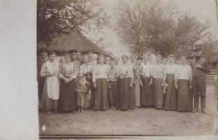 1916 Piaski, Panjegesellschaft / Pan shop, photo