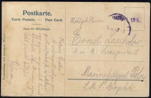 1918 Képeslap az Árpád hadihajóra címezve