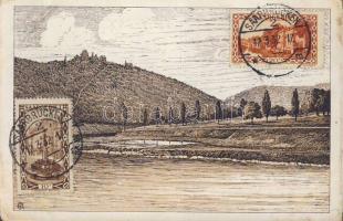 Neckargemünd, Burg Dilsberg / castle, river