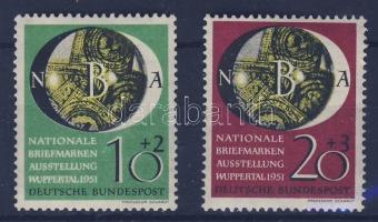 1951 Nemzeti bélyegkiállítás sor Mi 141-142