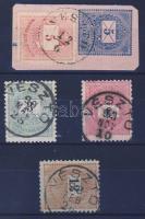 1874-1898 3 klf bélyeg + 1 kivágás VÉSZTŐ