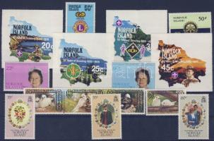 1978-1981 15 different stamps, with self-adhesive stamps, 1978-1981 15 klf bélyeg, közte öntapadós bélyegek, 1978-1981 15 verschiedene Marken, manche sind selbstklebend
