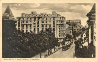 Bucharest, Bulevardul Elisabeta / street, tram