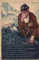 1849 In memoriam  of the reoccupation of Buda, Hungarian patriotic propaganda, artist signed, 1849 Buda visszafoglalásának emléklapja, hazafias propaganda 'Magyarország Területi Épségének védelmi ligája' szignózott