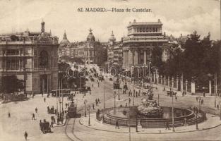 Madrid, Plaza de Castelar, Metropolis / square, tram