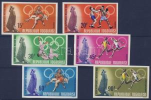 1968 Mexikói olimpia vágott sor Mi 661-666