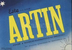 Artin gyógyszer reklám, Artin medicine advertisement