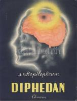 Chinoin's Diphedan antiepileptic medicine advertisement, big sized (13 cm x 17,2 cm) s: Sinkó (non PC), Chinoin Diphedan epilepszia elleni gyógyszer reklám, nagy méretű (13 cm x 17,2 cm) s: Sinkó (non PC)