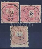 1881-1898 3 klf bélyeg FÜZITŐ