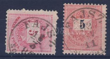"2 klf bélyeg, 2 klf bélyegző ""FAJSZ SOMOGY M."" 2 different stamps, 2 different cancellations ""FAJSZ SOMOGY M."""