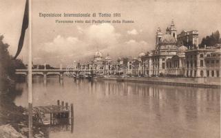 Torino, Turin; Esposizione Internazionale di Torino 1911, Panorama visto dal Padiglione della Russia  / International Exhibition, the Russian Pavilion