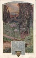 Deutscher Schulverein in Wien / German School Association, Karte Nr. 1045. s: Cust Feith, Deutscher Schulverein in Wien / Német Iskola Egyesület, Karte Nr. 1045. s: Cust Feith