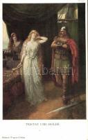 Richard Wagner's Tristan and Isolde, opera, illustration, M. Munk Nr. 994, Richard Wagner Trisztán és Izolda c. operája, illusztráció, M. Munk Nr. 994