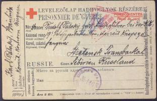 1916 Levelezőlap Bánhidáról az oroszországi Stretenszki hadifogolytáborba