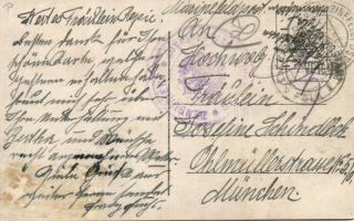 1916 Képeslap haditengerészeti postával S.M.S. Szent István