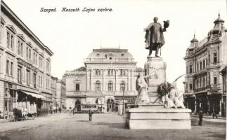 Szeged, Kossuth Lajos szobor, Pósz Alajos üzlete, villamos