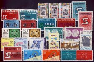 1969-1970 International Labor Organization 14 diff. countries, 26 various stamps, 1969-1970 Nemzetközi Munkaügyi Szervezet 14 klf ország, 26 klf bélyeg, 1969-1970 Internationale Arbeitsorganisation 14 verschiedene Länder, 26 verschiedene Marken