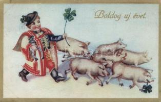 Újév, magyar folklór, New Year, Hungarian folklore