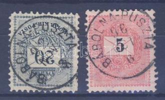 1881 20kr + 1889 5kr BÁBOLNA - PUSZTA
