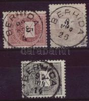 1889-1898 3 klf bélyeg BERHIDA