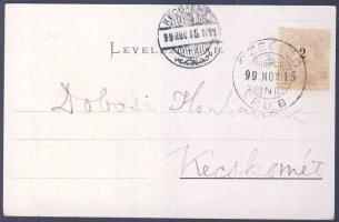 1899 Litho képeslap CZEGLÉD P. U. B- Kecskemét