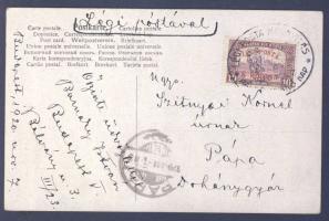 """First flight postcard """"BUDAPEST"""" - """"PÁPA"""", 1920.11.07. (2. díjszabás) Első repülés képeslap """"BUDAPEST"""" - """"PÁPA"""""""