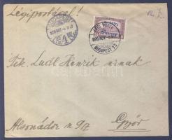 """1920.11.08. (2. díjszabás) Légi levél Győrbe, Airmail cover """"BUDAPEST"""" - """"GYŐR"""""""