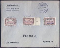 1920 Légi posta teljes sor légi levélen BUDAPEST - GYŐR