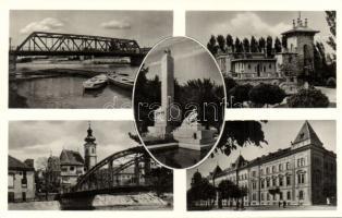 Győr evezős csónakházzal és hősi emlékművel