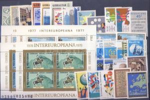 Events 10 diff. countries, 27 diff. stamps + 4 blocks, Események 10 klf ország, 27 klf bélyeg + 4 blokk, Ereignise 10 verschiedene Länder, 27 verschiedene Marken + 4 Blöcke